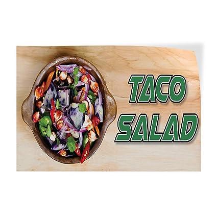 Amazon.com : Decal Sticker Taco Salad Restaurant Cafe Bar ...