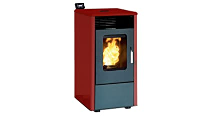 Rowi Pellet Horno HPO, estufas Rojo, 8,14 kW, Ext. Aire