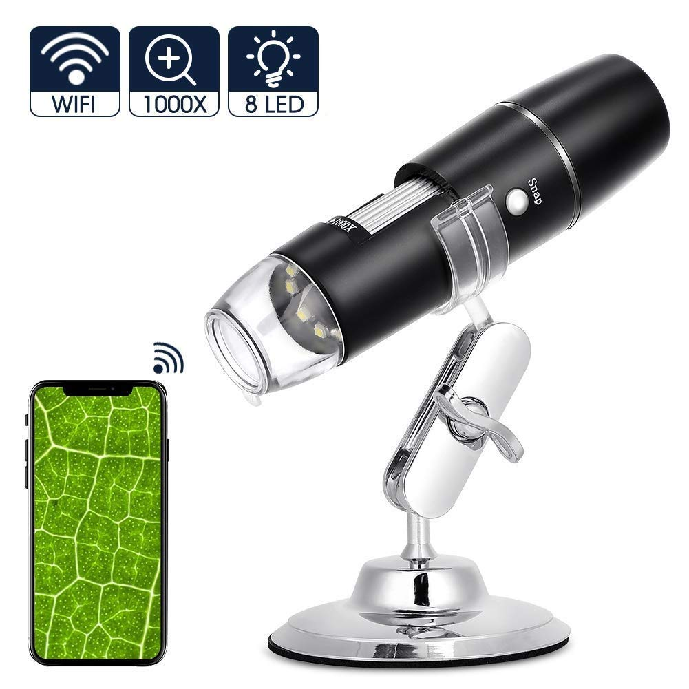 Microscopio Digital USB WiFi Recargable