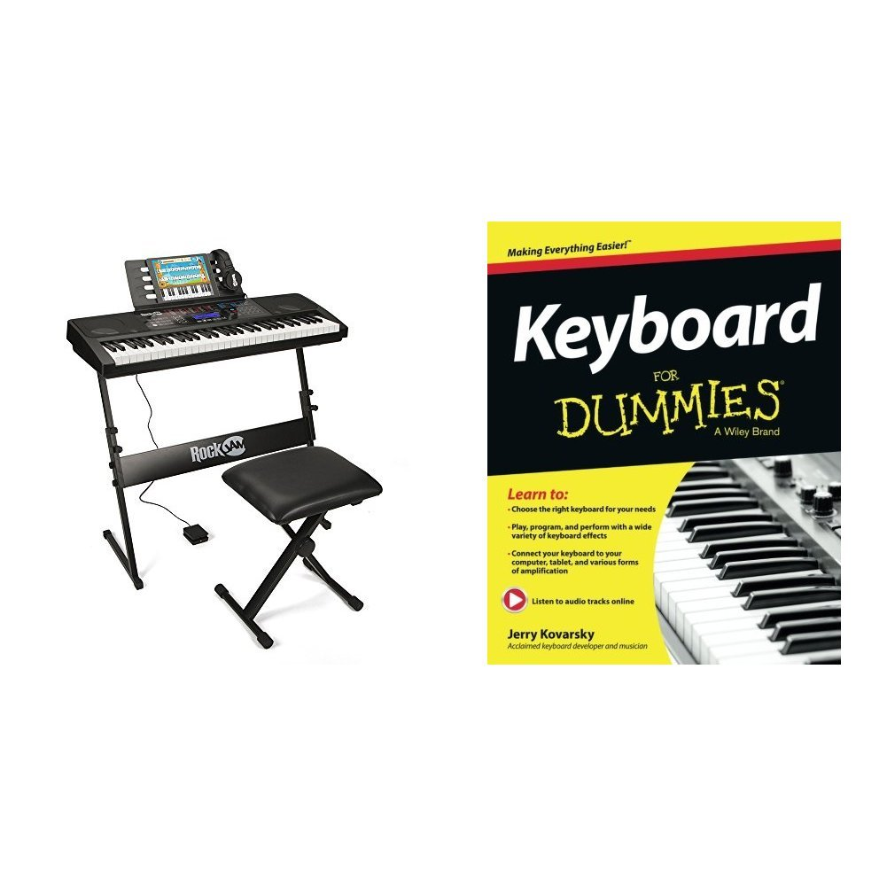 RockJam RJ761-SK Key Electronic Interactive Teaching Piano Keyboard with Stand, Stool, Sustain pedal & Headphones PDT Ltd - IMPORT (UK Vendor Product FOB China)
