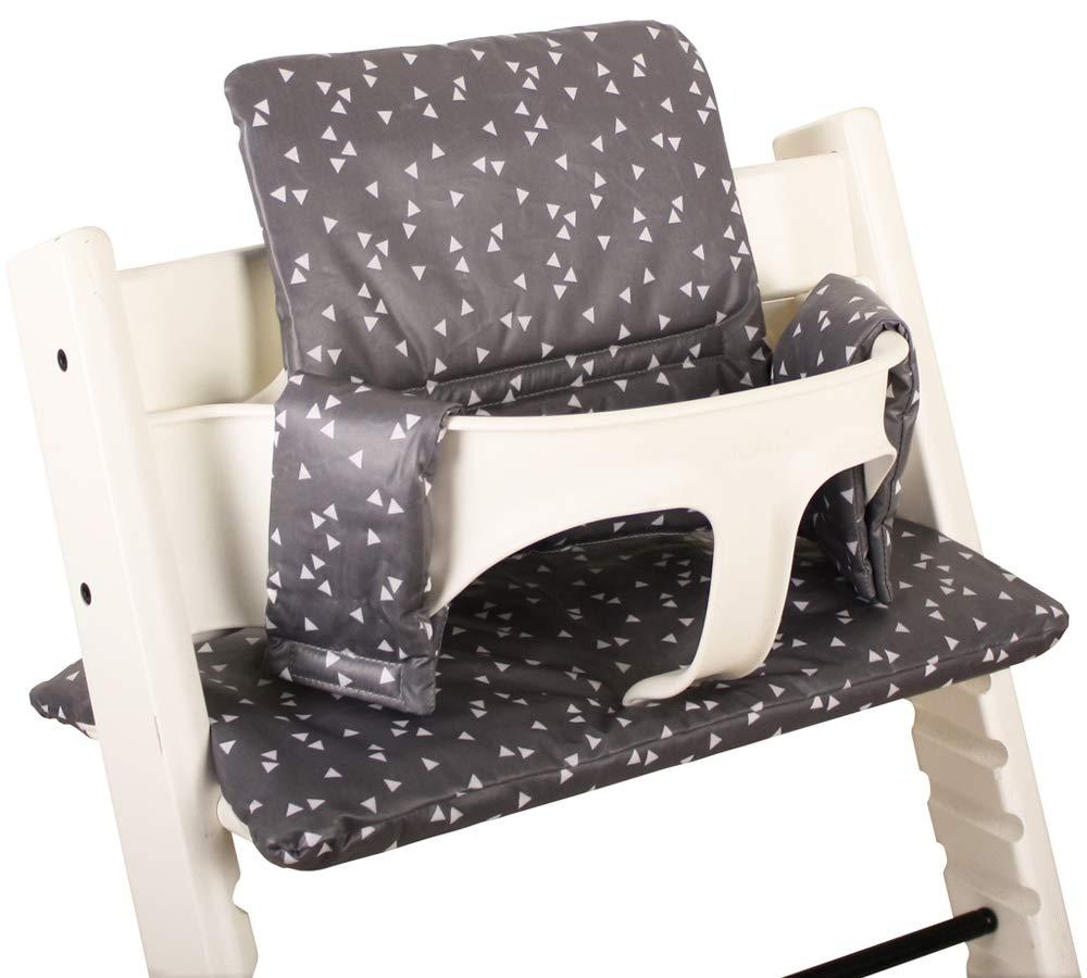 Stokke Tripp Trapp Sitzkissen Sitzverkleinerer bei UKJE /♥ Beschichtet /♥ Praktisch und sch/ön /♥ Grau Dreiecke