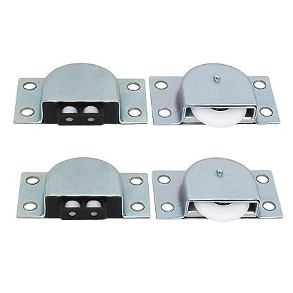 Armario puertas correderas metálicas para muebles rodillo rueda con resorte NNN juego 2 unidades
