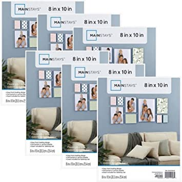simple yet elegant gallery style mainstays 8x10 picture frames set of 6 white