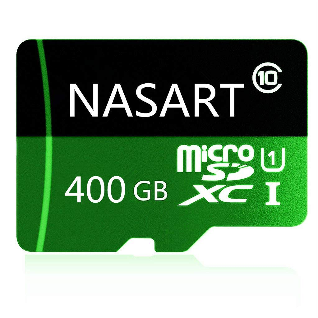 NASART 400GB Micro SD Memory Card High Speed Class 10 Micro SD SDXC Card with SD Adapter