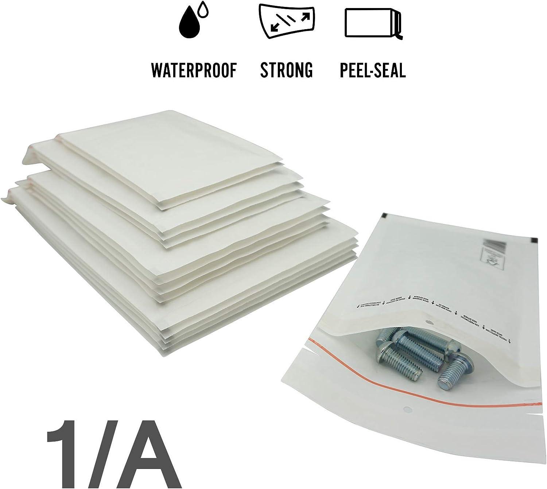 elb-verpackungen CD - - Luftpolstertaschen//Versandtaschen 500 St/ück Luftpolsterumschl/äge in wei/ß 200 x 175