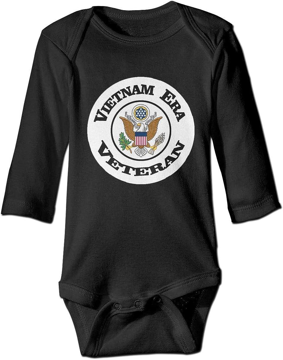 Marsherun Infant Babys Girls and Boys U.S Army Vietnam Era Veteran Long-Sleeve Bodysuit Playsuits