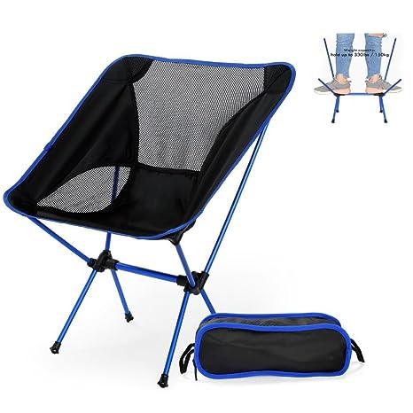 Nacatin Silla Plegable Camping Ultraligera y Portátil con Bolsa de Transporte, Fácil de Llevar, Soporta Hasta 150 KG, Ideal para Pesca, Playa, ...