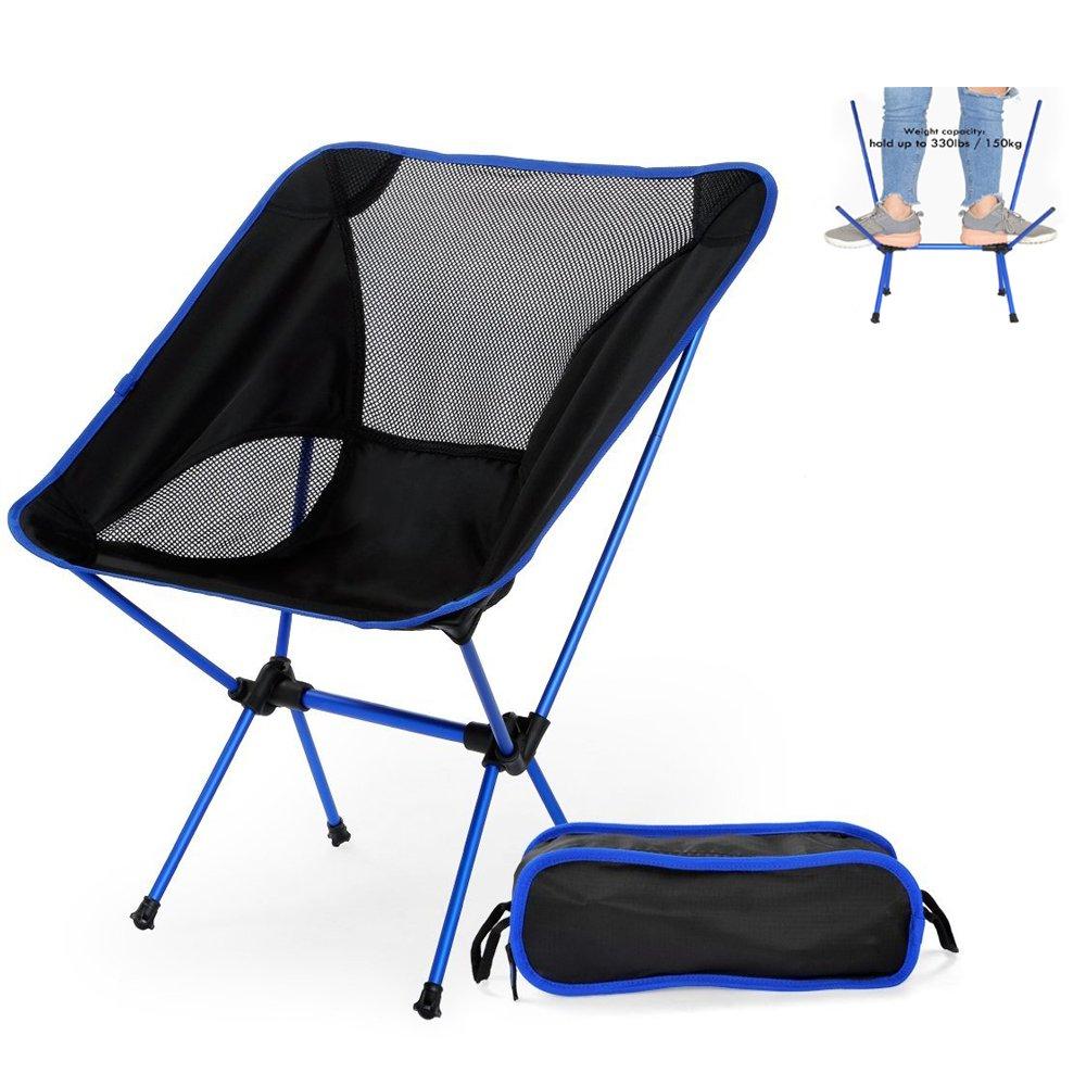 Nacatin Silla Plegable Camping Ultraligera y Portátil con Bolsa de Transporte, Fácil de Llevar,