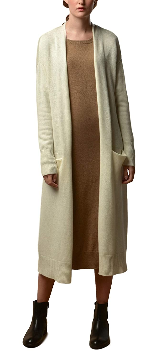 Long  Ivory P.CASHMERE NYC Long Pure Cashmere Cardigan