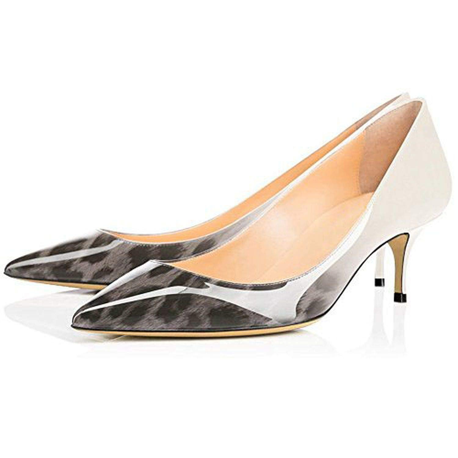 Gary Leopard Youthern Woman Heels Big Size Pumps shoes Sexy Pointed Toe High Heels Wedding Bridal shoes