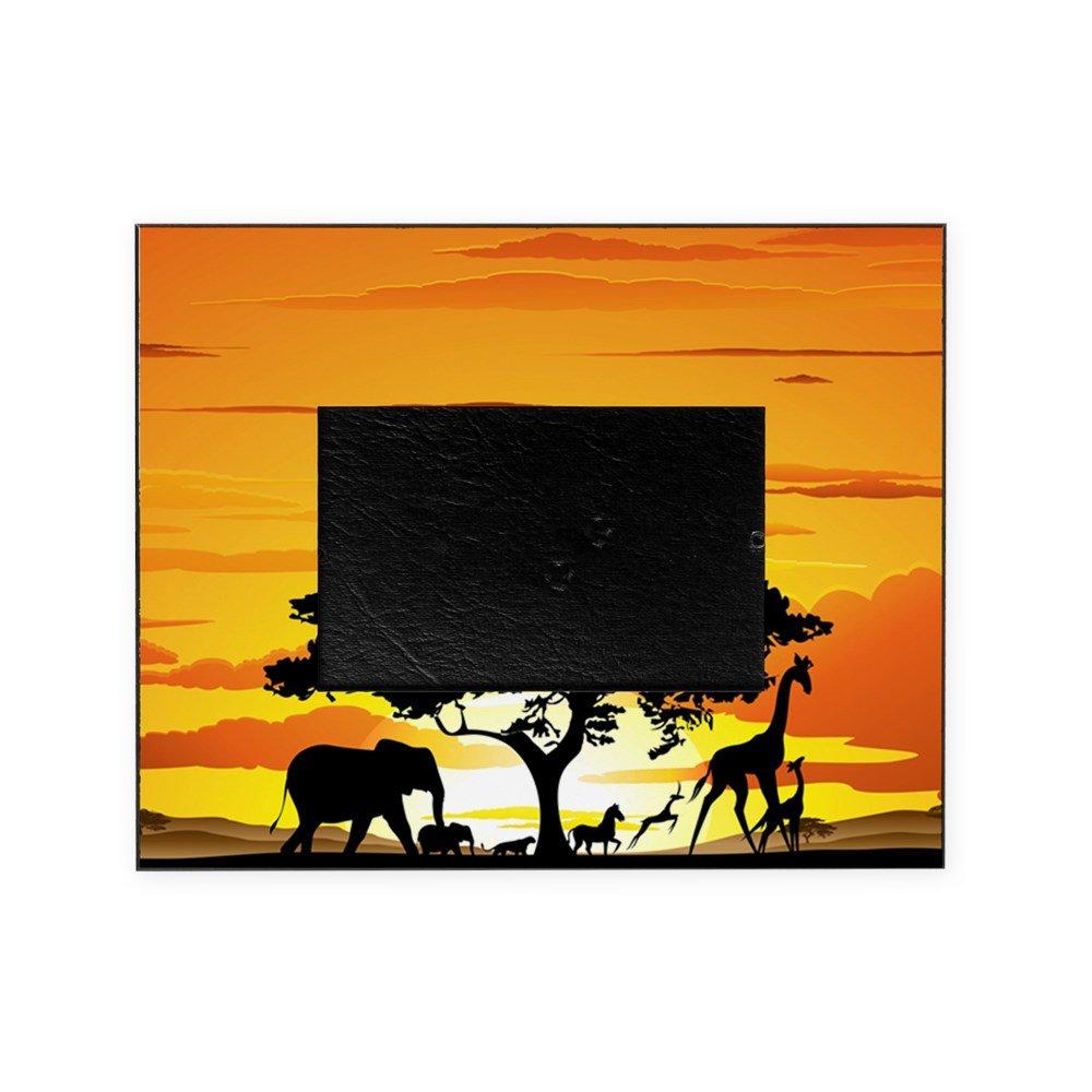CafePress - Wild Animals On African Savannah Sun - Decorative 8x10 Picture Frame