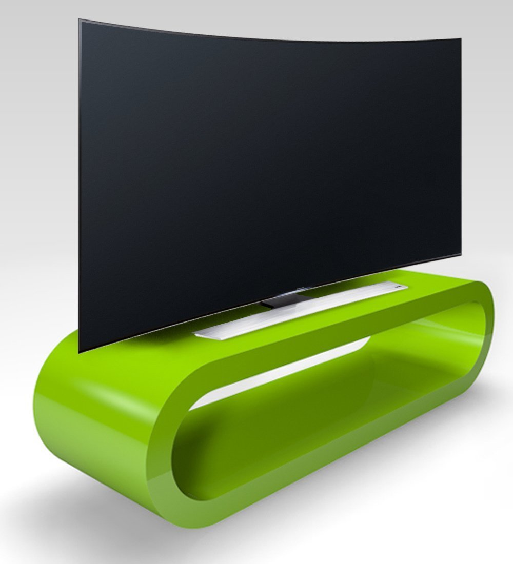 Cerceau De Style R Tro Grosse Pomme Brillant Vert Meuble Tv  # Meuble Tv Vert