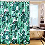 Leesin Shower Curtain Funny Green plant,100% Polyester Waterproof and Mildew Material 72x72in Shower Curtain Bathroom