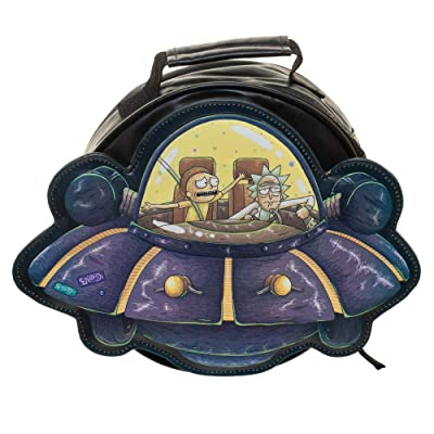 Rick and Morty Spaceship Die Cut Lunch box: Clothing