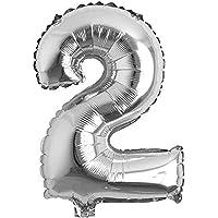 RPS 16 inç Gümüş 2 Rakamı Şeklinde Folyo Balon
