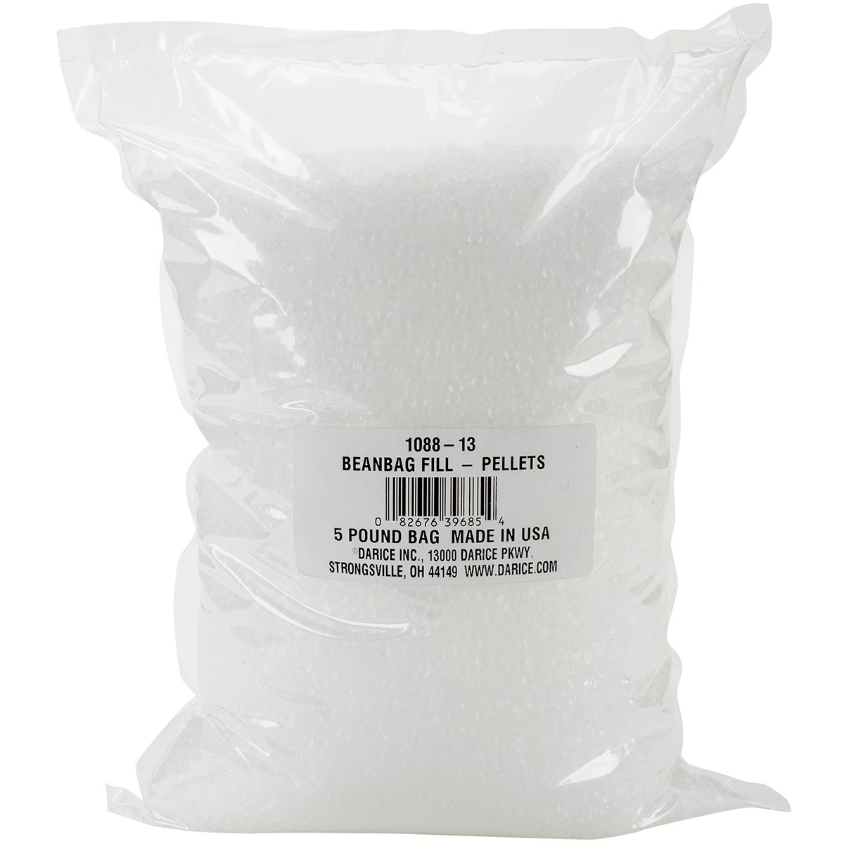 Darice 1088-13 Bean Bag Filling: Plastic Pellets, 5 Pounds, White