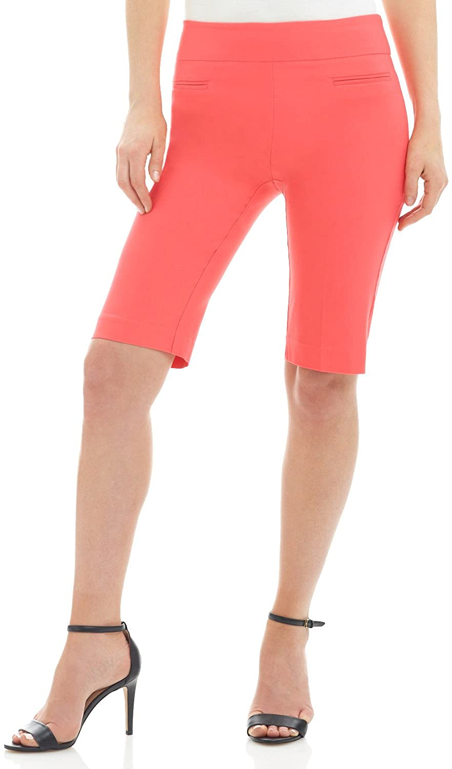 Rekucci Women's Ease into Comfort Pull-On Modern City Shorts