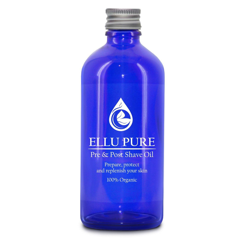 Ellu Pure - Aceite para antes y después del afeitado, natural, para pieles sensibles, protege, nutre, calma, excepcional tratamiento para el afeitado todo en uno, natural, con vitamina E, ayuda a prevenir la erupción cutánea y la piel seca, para hombres El