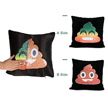 Caca Emoji funda de almohada, sukeq Novelty caca Emoji cara ...