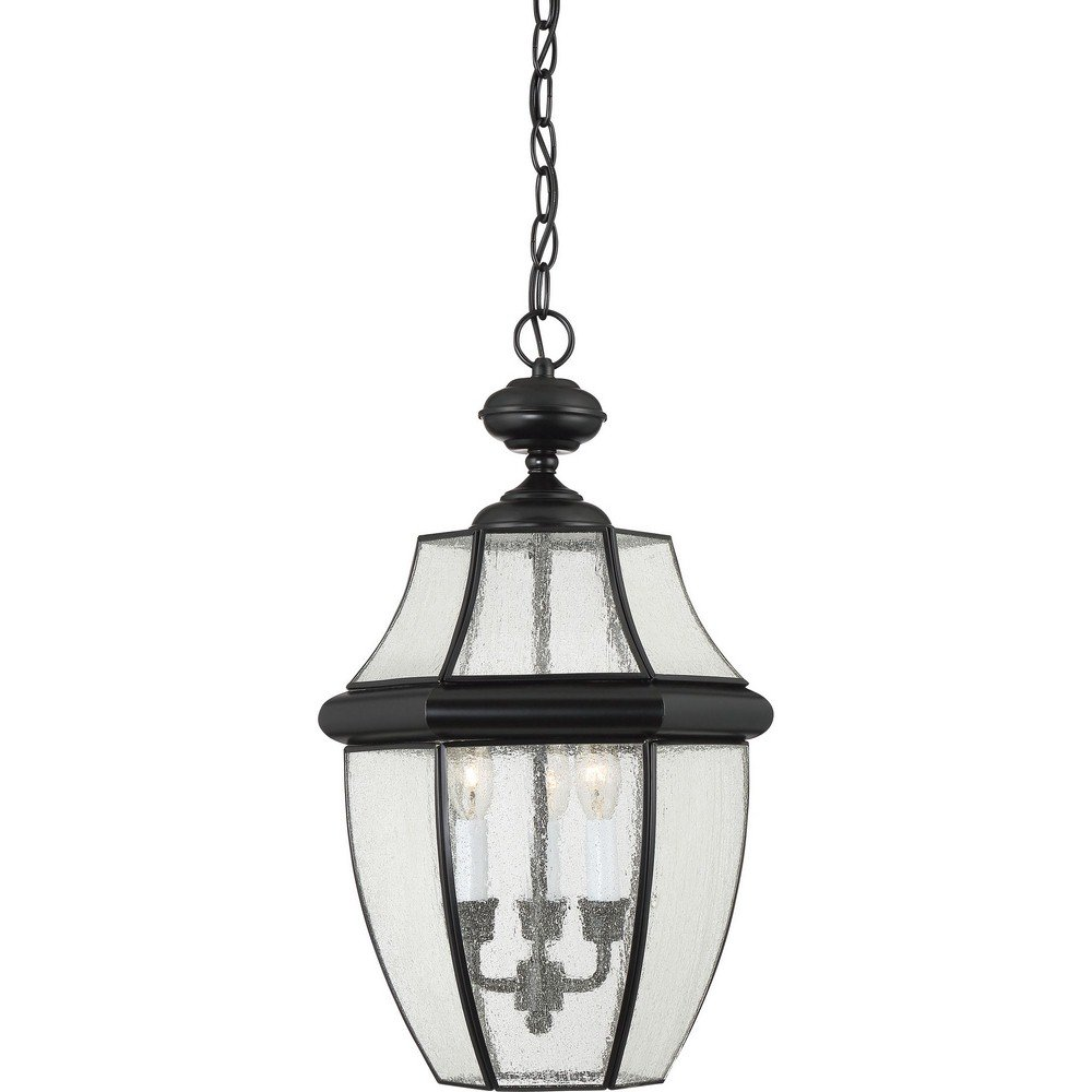 Quoizel NY1912K 3-Light Newbury Outdoor Lantern in Mystic Black