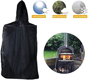 leveraYo Outdoor Pizza Oven Cover, Weather Resistant Heavy Duty Waterproof Protective Cover Dust-Proof, Perfect to Protect Against Any Weather for Outdoor 160x37x50cm