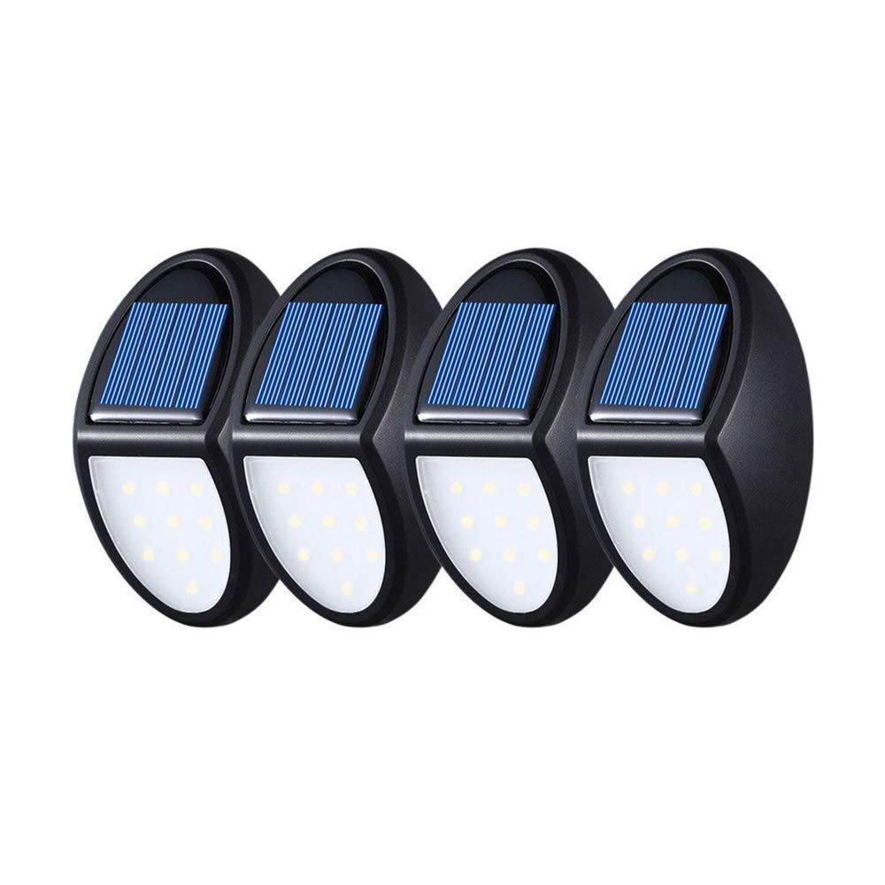 4PCS Solar Lights Outdoor Wall Lamps 10 LED Solar Motion Security Lights Waterproof Mini Wall Light für Yard Steps Patio Fence.