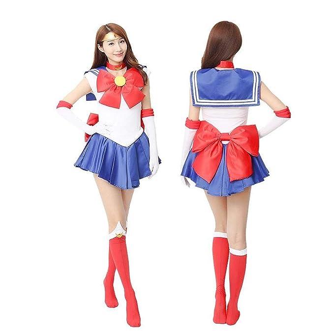 CosplayLife Sailor Moon Usagi Tsukino Serena Cosplay Costume for Women Full  Set