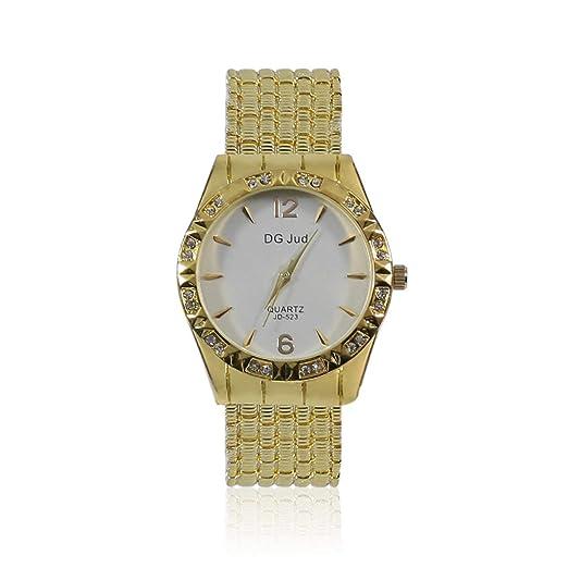 Relojes de Moda para Mujer Marca de Lujo con Diamantes simulados Correa de aleación Relojes Mujer
