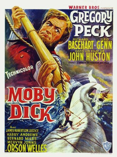 Moby Dick Belgian Movie Poster 1956
