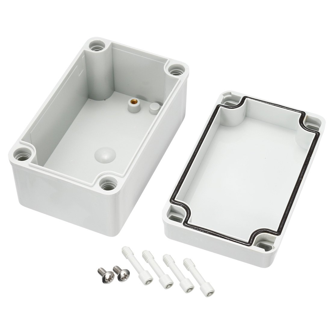 uxcell 7.87x4.72x4.45 ABS Junction Box Universal Project Enclosure Gray a18013000ux0106 200mmx120mmx113mm