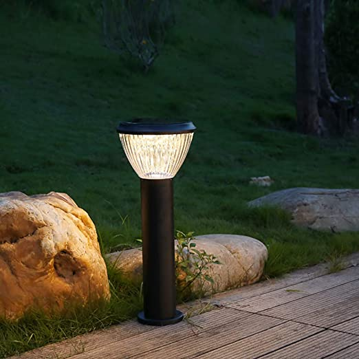 SHYYL Luces de Jardín Solar,Luz de Patio LED Luz de jardín Solar Impermeable al Aire Libre césped Encendido/Apagado automático Desde el anochecer hasta el amanecer-85cm-warmwhitelight: Amazon.es: Jardín