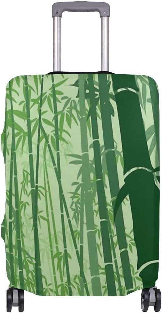 FANTAZIO Beautiful Green Bamboo Forest Suitcase Protective Cover Luggage Cover