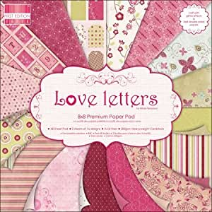 Premium Craft Cardstock First Edition 8 x 8 Scrapbook Paper Pad Love Letters by Trimcraft