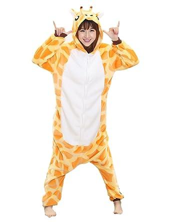 Amazon.com: Adult Giraffe Onesie - Women Mens Kigurumi Onesies Plush Animal Costume Pajamas: Clothing