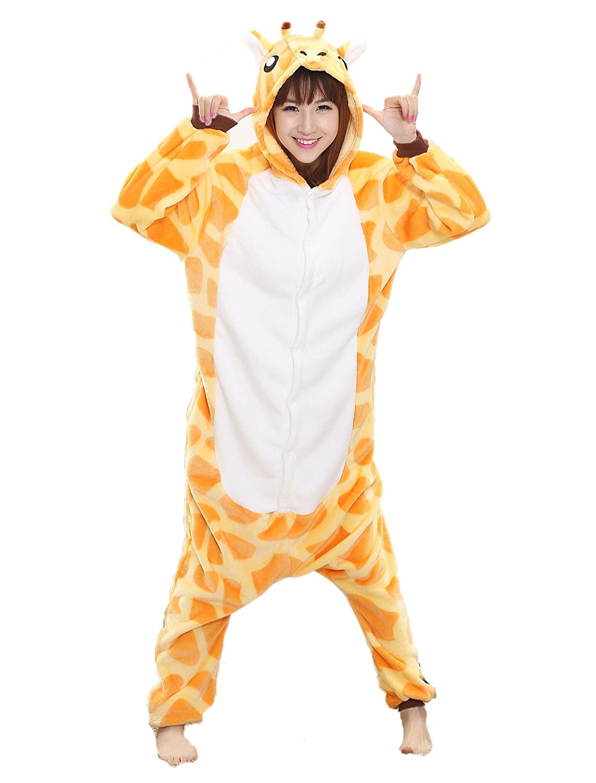 230cfb8cecaf Amazon.com  Adult Giraffe Onesie - Women Mens Kigurumi Onesies Plush Animal  Costume Pajamas  Clothing