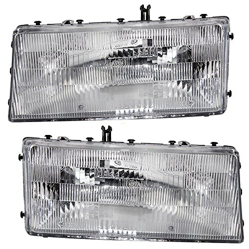 Driver and Passenger Headlights Headlamps Lens and Body Replacement for Chrysler Dodge Plymouth 4773253 4773252