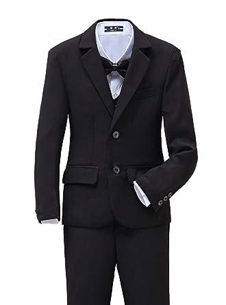 4fc2fa39d Amazon.com  YuanLu Boys Tuxedo for Kids Toddler Boy Formal Suits Set ...