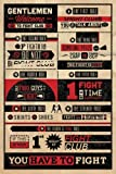 Empireposter - Fight Club - Rules - Größe (cm), ca. 61x91,5 - Poster