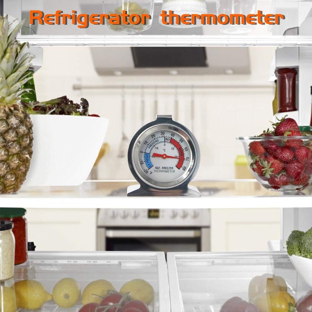 PQFYDS Large Dial Fridge//Freezer Thermometer Cute