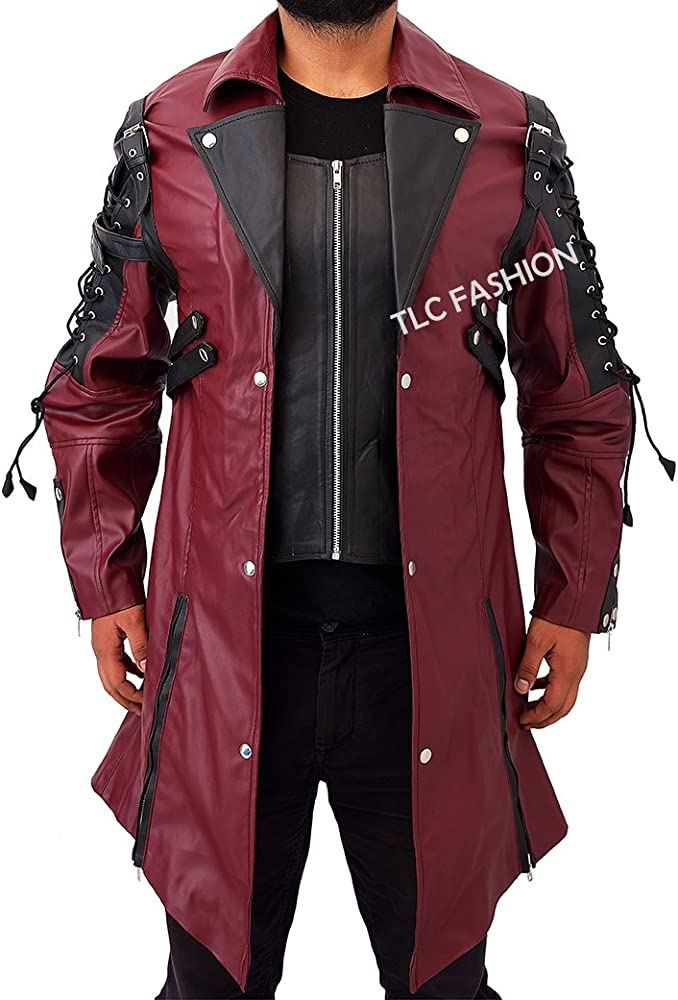 Punk Rave Poison Black & Red Jacket Mens Faux Leather Goth ...