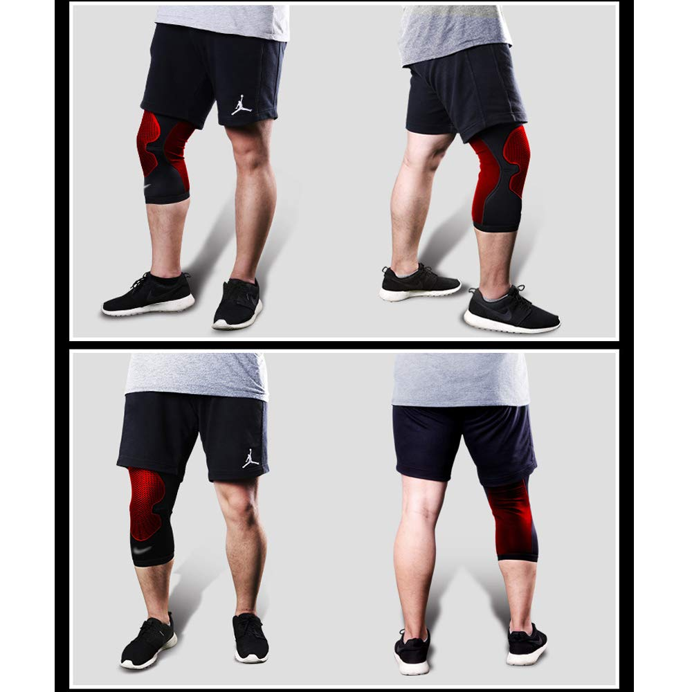 TY BEI Kneepad Sports Knee Pads Meniscus Outdoor Riding Knee Knee Pads - Three (Color : Red, Size : L) by TY BEI (Image #4)