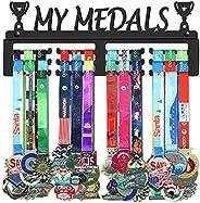 GENOVESE My Medals Hanger,Sport Medal Display Rack,Matte Black Metal Hangers,Trophies Holders,Awards Hook