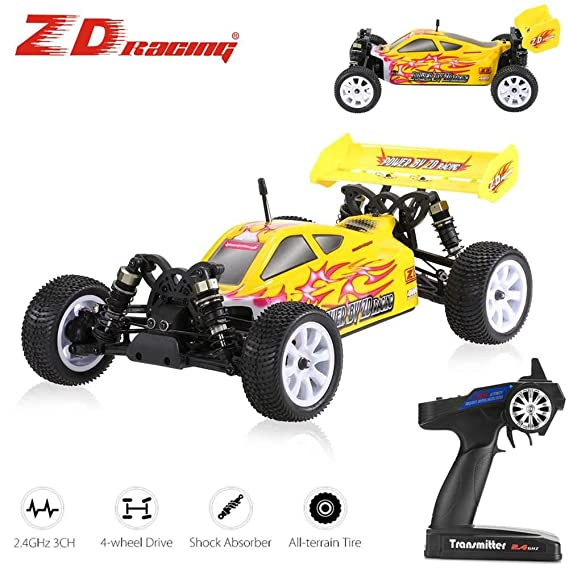 D RC Truck Off-Road Car Remote Control Vehicle 2.4ghz High Speed for ZD Racing 4WD 1:10 Cars Electric Buggy Hobby Fast Race Off Road 55km/h Turbo Buggy ...