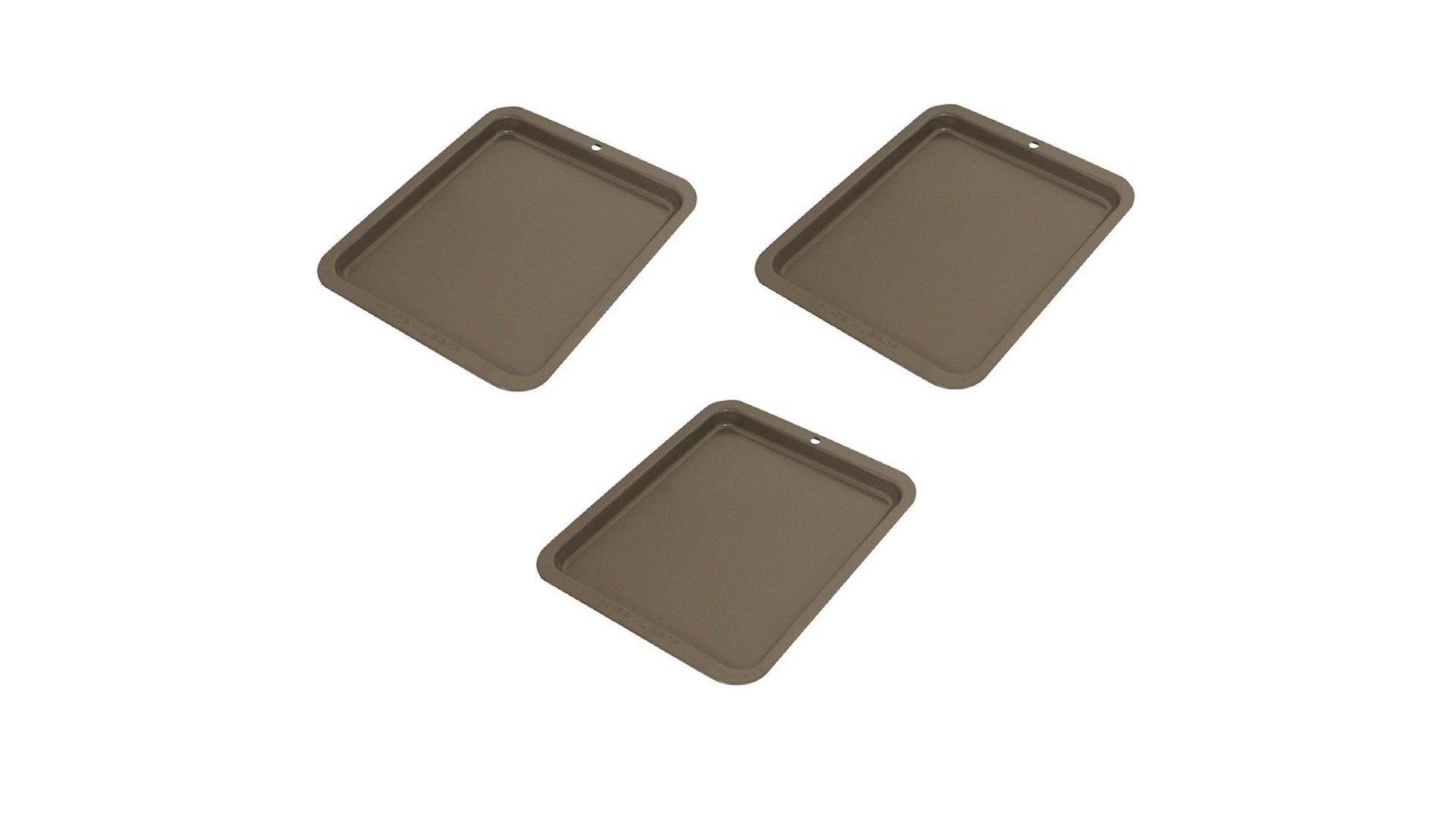 Range Kleen Non-Stick Toaster Oven Cookie Sheet,(3-Pieces of 8'' x 10'')
