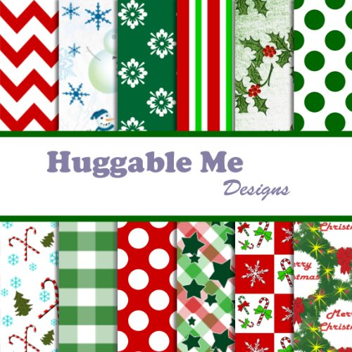 Christmas Scrapbook Paper Printable - Merry Christmas Scrapbook Paper on CD