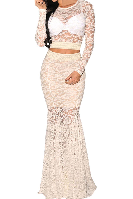 E-Girl Women White SY6690-1 Party Dress