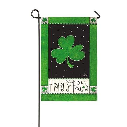 da49bc4b5 Amazon.com : Happy St. Patrick's Day Garden Flag : Garden & Outdoor