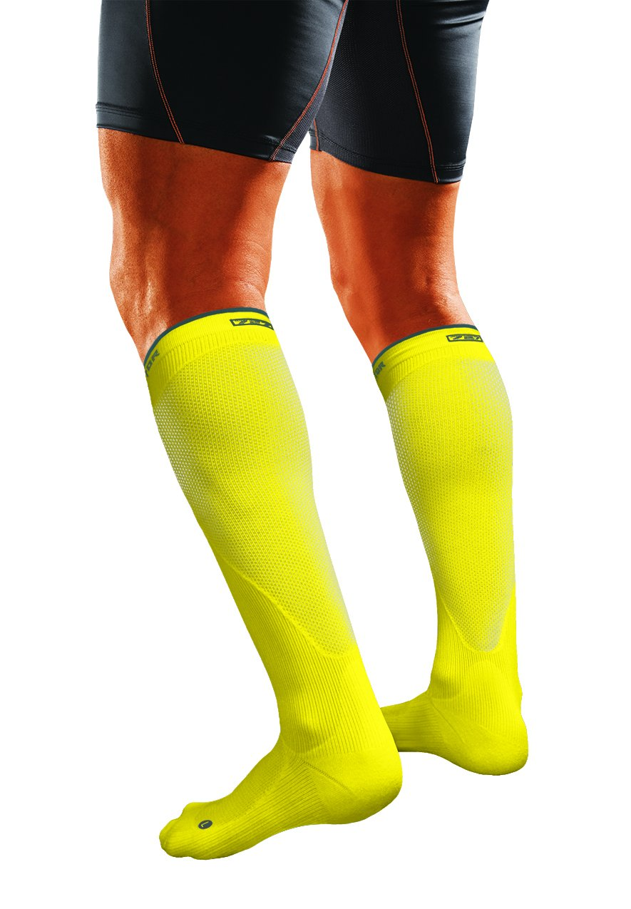 Shock Doctor SVR Recovery Compression Socks, Shock Yellow, Adult-X-Large