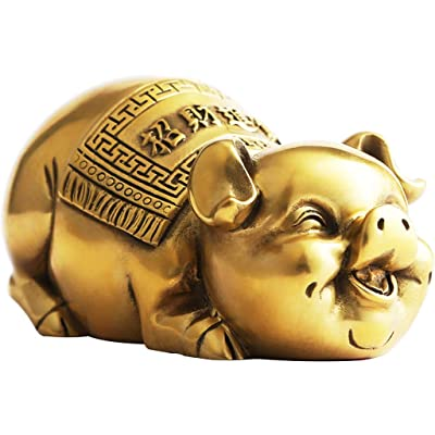 Hh001 Decoraciones para el hogar Regalos Hechos a Mano Decoración de cochinillos Cerdo de la Suerte Casa Nueva casa de Bodas Decoraciones Cerdo Lindo ( Color : Gold , Size : 10.5*5CM ): Juguetes y juegos