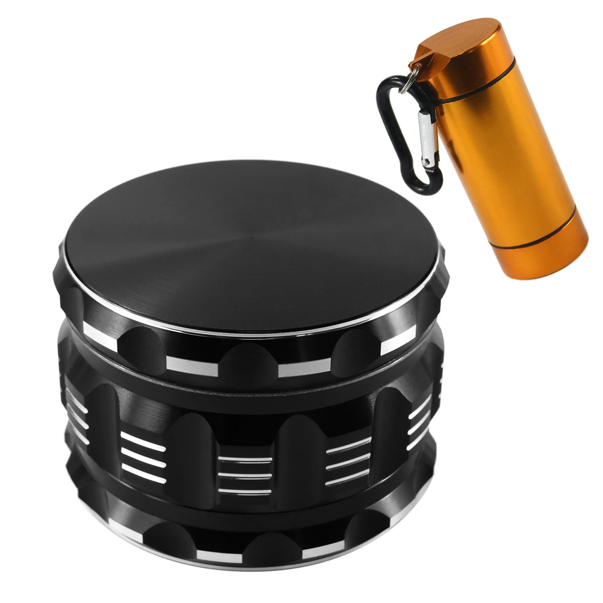 Weed Grinder with Storage Case As Bonus 2018 Updated Version Aluminum with Keef Catcher 4 Pieces 2.5'' Formax420